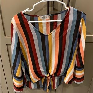 M Girls bell sleeve top size medium